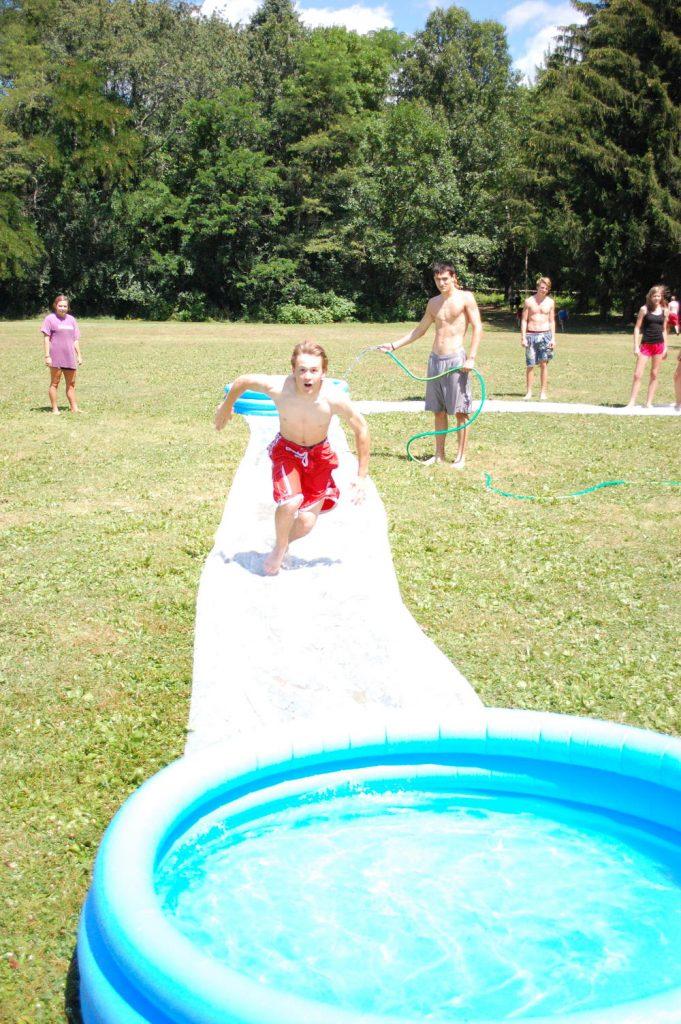 high school water slide